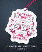 Winter Holiday Christmas Sale Tag