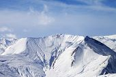 image of avalanche  - Snowy mountains with avalanches - JPG