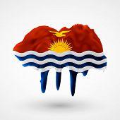 Flag of Kiribati painted colors