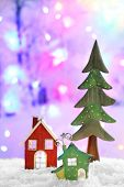Beautiful Christmas composition on shiny background