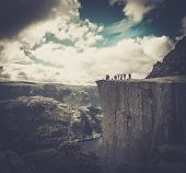 People at Preikestolen, Norway