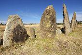Mysterious megalithic Tiya stone pillars, UNESCO World Heritage Site, Ethiopia.