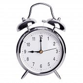 Exactly Nine O'clock On Alarm Clock
