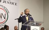 Rev Al Sharpton makes a point