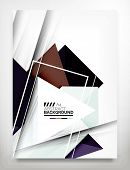 Flyer, Brochure Design Template, Business Abstract Geometric Background, Web or Print Design