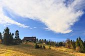 stock photo of pieniny  - autumn mountain landscape, Pieniny mountains in Poland ** Note: Soft Focus at 100%, best at smaller sizes - JPG