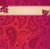 Pink Indian Paisley Pattern Background