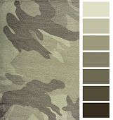 camouflage fabric complimentary color chart selection