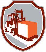 Forklift Truck Box Shield Retro
