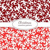 Christmas pattern. Seamless vintage background.