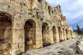 wall of ancient theater, Herodes Atticus Odeon