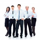Group of business people team. Isolated on white background.
