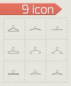 Vector hanger icon set