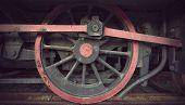Wheel Of Old Locomotive