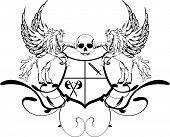 heraldic pegasus coat of arms crest shield3