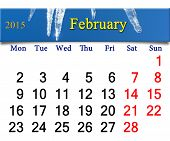 Calendar For The Fabruary Of 2015 Year