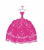 Vector illustration beautiful dress for a princess