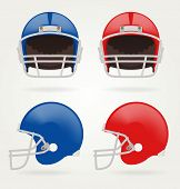 foto of football helmet  - Vector American football - JPG