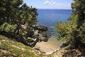 Scenic walk down to the Aegean Sea.