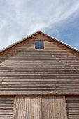 Barn Roof With Blue Sky Background