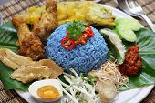 stock photo of malaysian food  - nasi kerabu - JPG