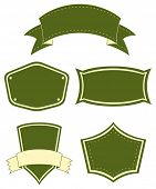 Different shape and style of bannners
