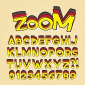 Comic Pop Art Alphabet And Numbers, Editable Eps10 Vector