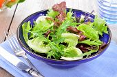 Mixed Green Leaves Salad Lettuce.