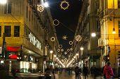 Light and Art in Garibaldi Street, Turin