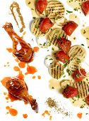 Chicken Drumstick With Roasted Tomatoes And Onion