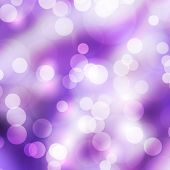 The Purple Bokeh Light Is Colorful