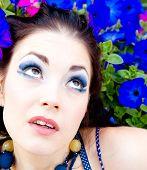 Flowers Portrait Bright Eyes