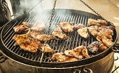 Duck Wings On Grill