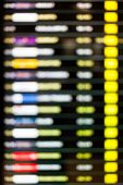 Blurred Background Of Departure Schedule Board In Airport.