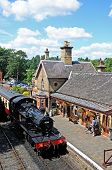 Steam loco at Arley station.