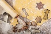 Christmas baking cookies rolling pin spices