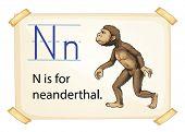 Poster of an alphabet N