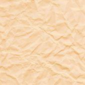 Texture of crumpled sepia paper. Vector