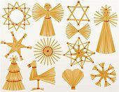 Christmas straw decorations