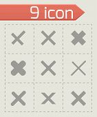 stock photo of rejection  - Vector rejected icon set on grey background - JPG