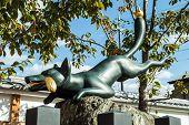 Fox statue in Fushimi Inari-taisha Shrine in Kyoto Japan