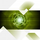 Abstract tech engineering flyer template. Vector design