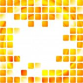 Yellow tech squares on white background. Vector design