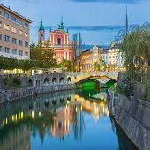 Romantic medieval Ljubljana, Slovenia, Europe.