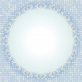 Round frame, Circular ornament design template, Vector