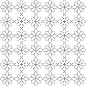 Flower background Abstract vector seamless line pattern