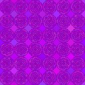 Abstract vector background Seamless round purple flower pattern