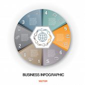 Diagram Cyclic Process, Business Infographic For Success Project And Other Your Variant.