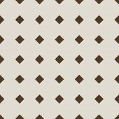 Seamless stylish beige diamond pattern.