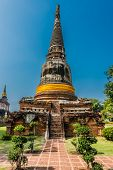 Wat Yai Chai Mongkhon Ayutthaya at Bangkok Thailand